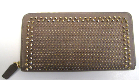 Details about   MCM Large Marelda Zippered Wallet - Iron - New With Tags
