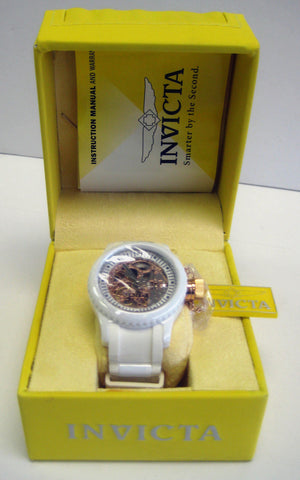 Invicta Women's 1827 Russian Diver White Skeleton Dial Watch