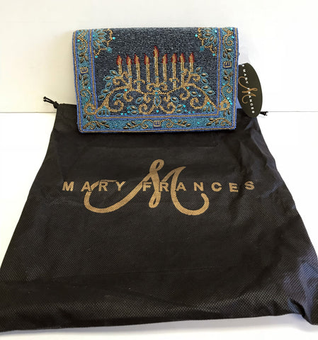 Mary Frances Menorah Hannukah Channukah Jewish Beaded Handbag New With Tags