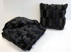 Faux Fur Throw and Pillow