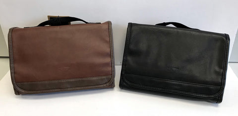 G.H. Bass Leather Hanging Travel Kit