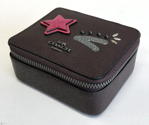 Coach Leather Jewelry Box
