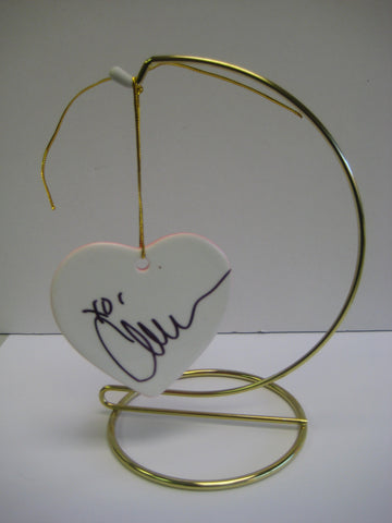 Original Signed Ceramic Heart on Stand by Actress Chelsea Handler