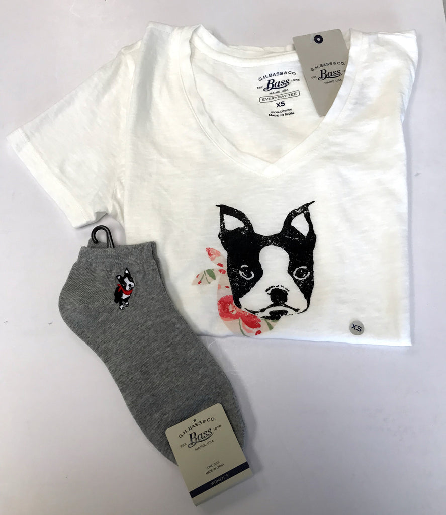 Bass Women's French Bulldog T-Shirt & Sock Set