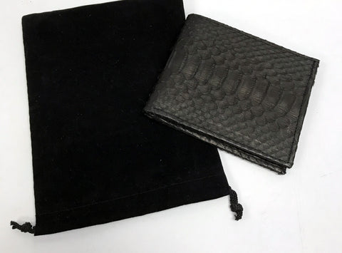Men's Python Wallet - Black
