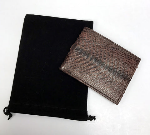 Men's Python Wallet - Burgundy