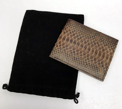Men's Python Wallet - Brown