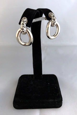 Charles Krypell Sterling Silver Door Knocker Earrings