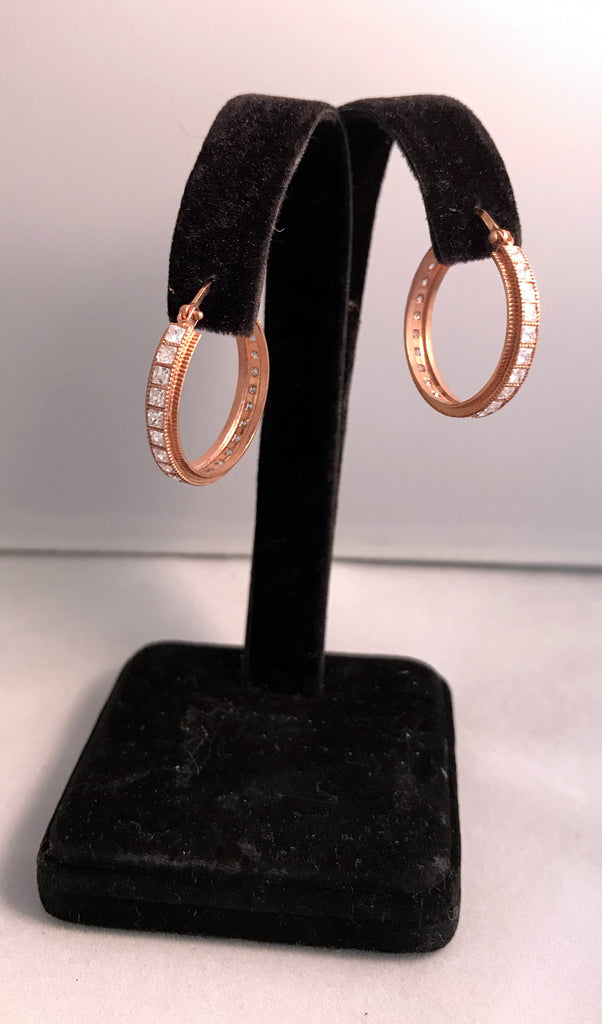 Artisan Made Metal Hoop Earrings