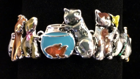 Cat Bracelet with Magnetic Closure
