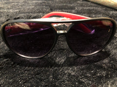 Ladies Sunglasses with Red Plastic Stems