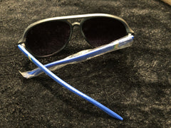 Ladies Sunglasses with Blue Plastic Stems