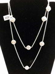 "Charles Krypell Sterling Silver Tufted 36"" Necklace"