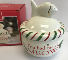 Lenox Cat Treat Jar