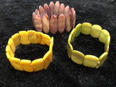 Set of Three Stretch Shell Bracelets