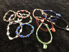 Evil Eye Collection (Six Plastic Stretch Bracelets & Five Plastic Adjustable Bracelets)