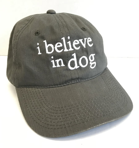 """i believe in dog"" Hat"
