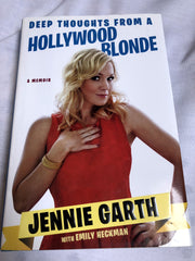 "Sgned Book by Jennie Garth - ""Deep Thoughts from a Hollywood Blonde"""