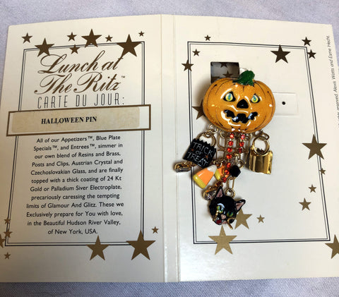 "Lunch at The Ritz Retired ""Halloween Pin"""