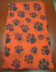 Light Weight Paw Print Eternity Scarf (or use as a handbag accessory) Choice of 5 Colors