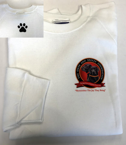 Sweatshirt (White) with Paw