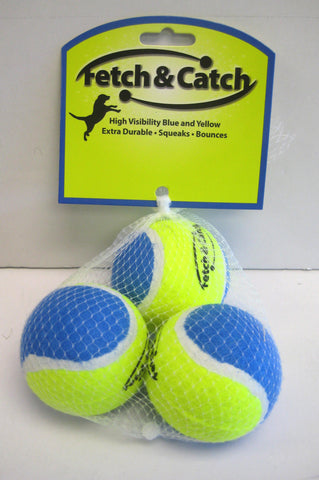 Fetch & Catch Set of 3 Balls (Medium Size)