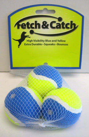 Fetch & Catch Set of 3 Balls (Small Size)