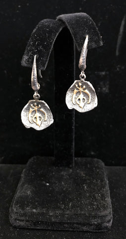 Earrings - Khanda: Peace