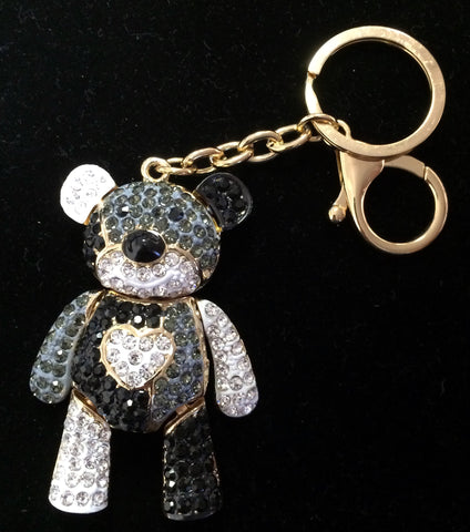 Crystal Bear Keychain, Backpack Charm or Bag Charm