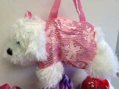 Plush Dog Pocketbooks (Available in Four Colors)