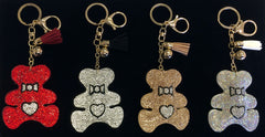 Bling Bear Keychain, Backpack Charm or Bag Charm (Available in Four Colors)