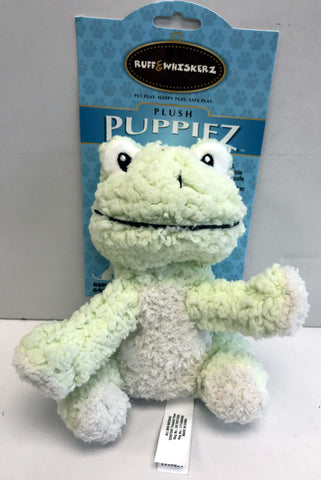 """Plush Puppiez"" Frog Dog Toy"