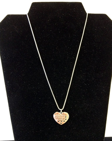 """Dogs Leave Prints On My Heart"" Necklace"