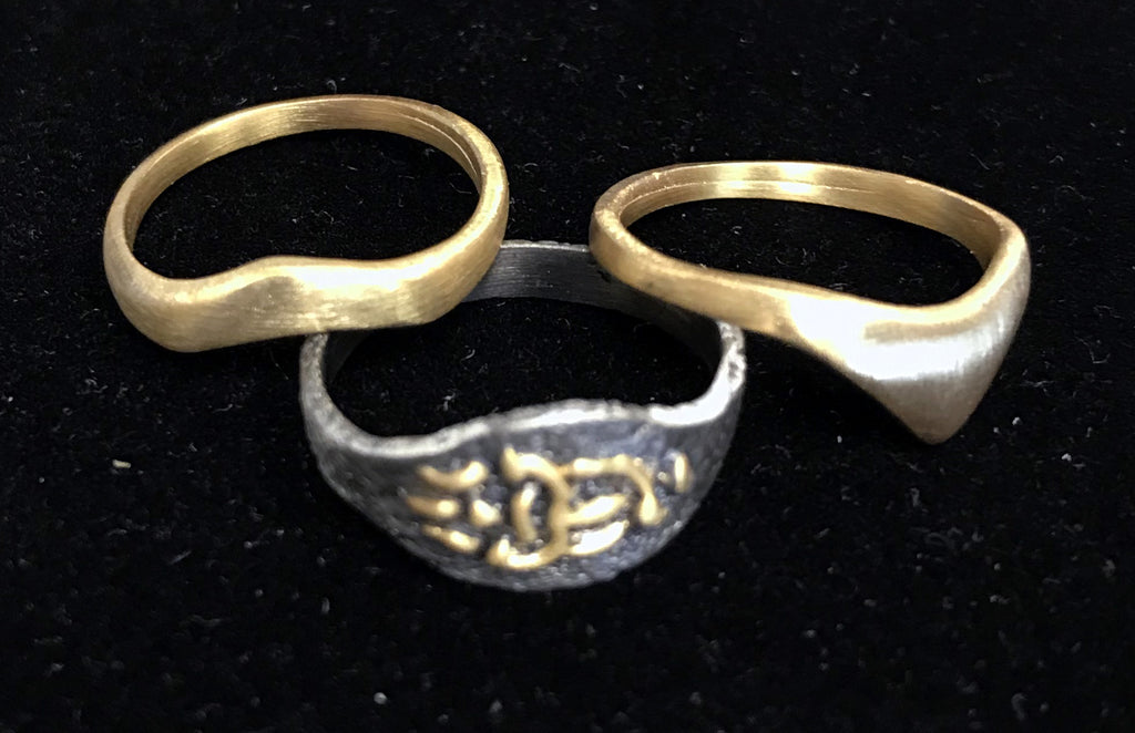 Set of three stackable rings - Trisula: Wisdom