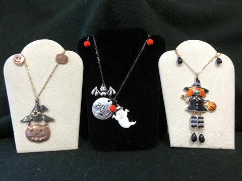 """Trick or Treat"" Three Halloween Necklace/Earring Sets"