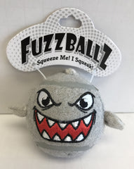 """FuzzBallz"" Shark Dog Toy"