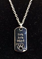 """Live Love Adopt"" Necklace"