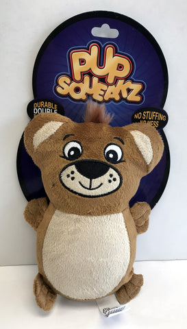 """Pup Squeakz"" Bear Dog Toy"