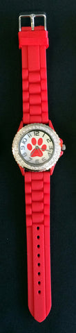 Paw Watch with Crystals (Available in 6 Colors)
