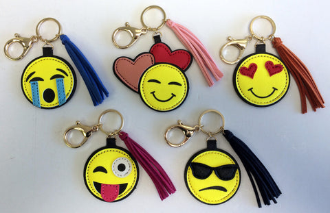Emoji Keychain, Backpack Charm or Bag Charm (Available in Five Styles)