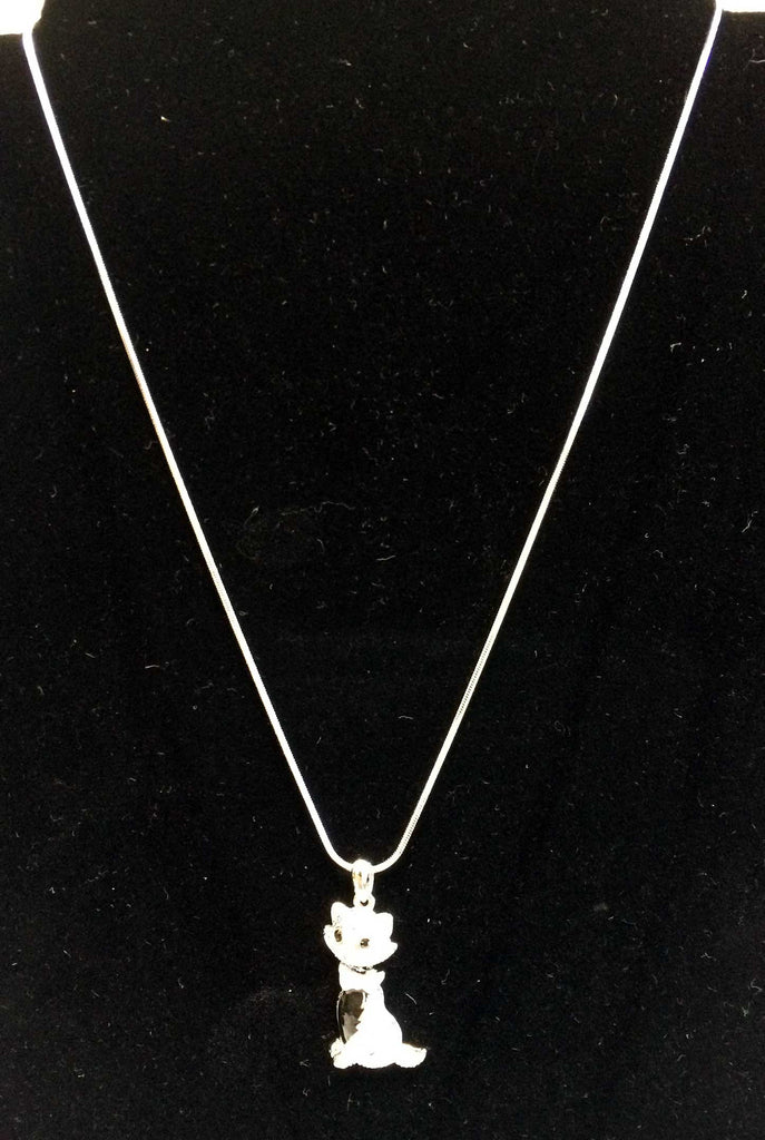 Cat Necklace with Crystals
