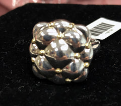 Charles Krypell Sterling Silver & 18k Tufted Pillow Ring