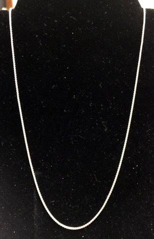 Sterling Silver Chains in 16 or 21 Inch Lengths