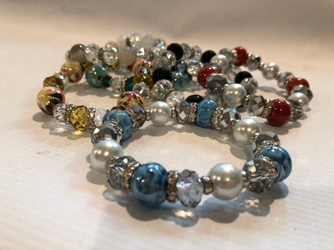 Stretch Beaded Bracelet (Various Colors)
