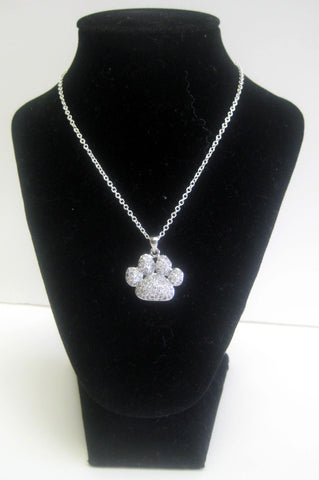 Paw Print Crystal Necklace