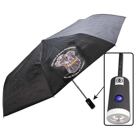 Umbrella with LED Flashlight