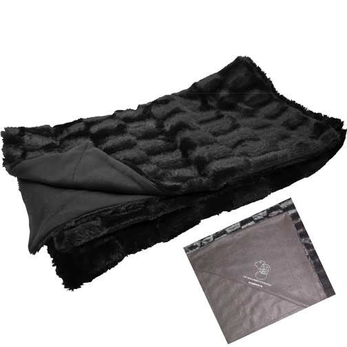 Faux Fur Blanket (Choice of Black or Eggshell)