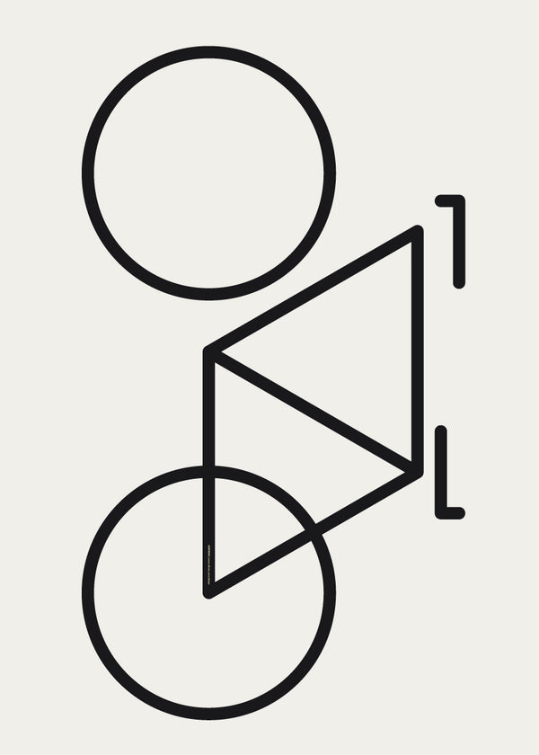 Plakat Geometric Bike