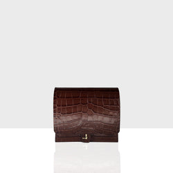 Flap Bag Mini Caramel Croc