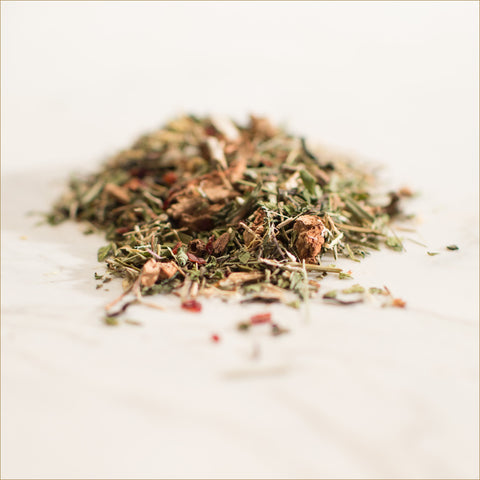 astragalus tea, capsicum, dandelion root tea   , eleuthero tea , ginseng tea , gotu kola tea, green tea, lemon grass, licorice root, nettle leaf, nettle root, peppermint leaf, green rooibos, red rooibos, spearmint leaf